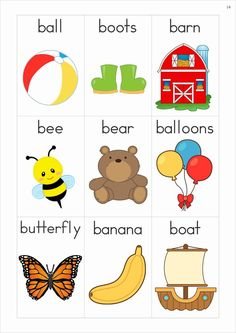 Phonics Letter of the Week Bb {FREE}. A HUGE unit pages) with all that you need for a letter of the week curriculum. A page from the unit: Vocabulary cards (beginning sounds) Más Letter B Activities, Preschool Letters, Learning Letters, Preschool Activities, Kids Learning, Early Literacy, Preschool Kindergarten, Alphabet Phonics, Jolly Phonics