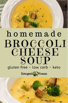 The fall makes me want a nice, warm and comforting soup. This Panera copycat broccoli cheese soup really hits the spot. Add a few chaffle croutons and this low carb, keto soup recipe is the perfect comfort food. Try it today! Cheesy Broccoli Soup, Broccoli And Cheese, Ketogenic Recipes, Keto Recipes, Ketogenic Diet, Lunch Recipes, Soup Recipes, Fennel Recipes, Low Carb Cheesecake