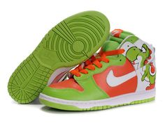 aab5a8088ff1 Cheap Yoshi Nike Dunk High Top Custom Brass Monki Green Patterns Shoes For  Sale