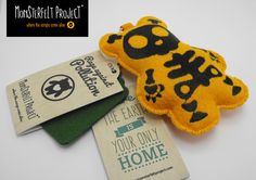 Monsterfelt Project nano felt plush handcrafted toys made with love in Italy - Rage against pollution campaign.