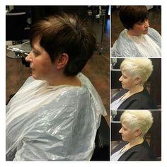 """A nuestra estilista Marisa no le gusta el cabello negro :) Aquí tenéis dos """"nuevas rubias"""".   http://on.fb.me/18efnNr"""