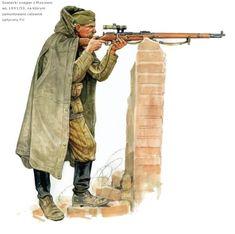 AL Soviet Female Sniper Mosin Nagant Sniper Rifle 1//6 Scale Alert Line Figure