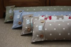 Fabric Draught / Draft Excluder in Shabby by LittlePumpkinsDesign, £14.95
