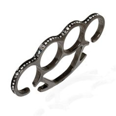 Solid Brass Knuckles, Noir Jewelry