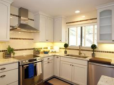 Property Brothers: Bright white kitchen cabinets.