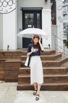 awesome Long Button Skirt | Korean Fashion... by http://www.redfashiontrends.us/korean-fashion/long-button-skirt-korean-fashion/