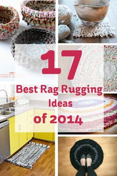 17 Best Rag Rugging Ideas of 2014 #rag #rug #upcycle