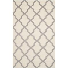 Safavieh Cambridge x Rectangle Wool Hand Tufted Geometric Area Ru Ivory / Silver Home Decor Rugs Area Rugs Light Blue Area Rug, Blue Area Rugs, Wool Area Rugs, Wool Rug, Rug Texture, Rectangular Rugs, Quatrefoil, Accent Rugs, Grey Rugs
