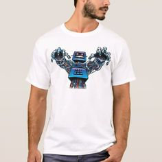 Shop Cable TV Monster T-Shirt created by The_Dynamic_Duo. Robot Theme, Fitness Models, Cable, Unisex, Tv, Casual, Sleeves, Mens Tops, Cotton
