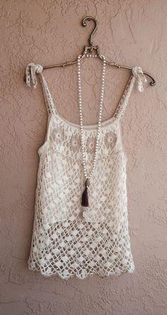 Hazel for Anthropologie crochet beach tunic: