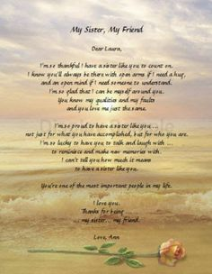 Image result for sister poems birthday