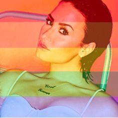 Demi Lovato's picture from Instagram  #LOVEWINS  #coolforthesummer