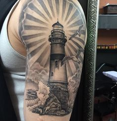 Healed  #getinktattoo #alexgetink #lighthouse #lighthousetattoo #ink #getink…