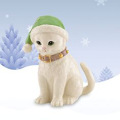 Lenox Figurines | LENOX Figurines: Cats - Santa's Kitty Elf Figurine