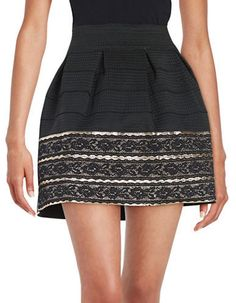 Design Lab Lord & Taylor Pleated Skirt