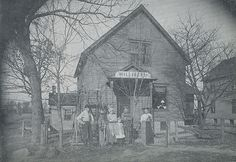 TITLE: Millinery Shop, Schererville, Indiana. From left: Joseph W