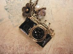 Take a picture. a vintage camera necklace by trinketsforkeeps