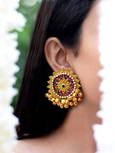 Latest Waheeda Zari Ghungroo Earrings vintage boho chic bohemian tribal indian ethnic indo-western handmade handcrafted quirky gypsy unique made in india earrings ideas antique beautiful cool awesome indian wedding festive festival diwali party desi stone designer earrings design bollywood colorful bright hand painted india fashion jhumka jhumki gold silver exotic chaand chand baalis baali afghani pakistani gota jewellery jewelery traditional statement sangeet mehendi jewellery bridesmaid