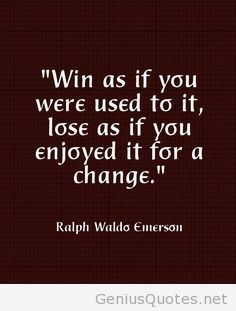Win and lose quote