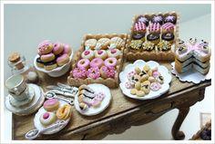 Dollhouse Miniature: Donut Party!