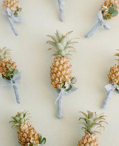 Pineapple Boutonnières!  | Real Charleston, SC Wedding | On The Blog
