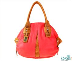 d24e29a32318 Best offers on bulk purchase of bright orange tote handbags from reputed  bags manufacturer