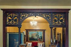 Eastern Parkway Brooklyn Victorian partition woodwork | Flickr - Photo Sharing!