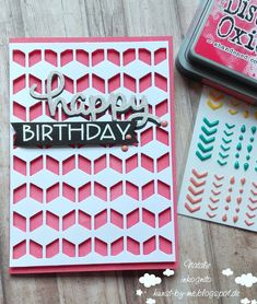 INKognito ~ Cards by Natalie: coral Happy Birthday