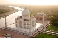 Taj Mahal, India -- Spectacular Drone Photos Catch Famous Places The Way They Were Designed To Be Seen Taj Mahal India, World Pictures, Famous Places, Aerial Photography, India Travel, Incredible India, Drones, Quadcopter Drone, Lonely Planet