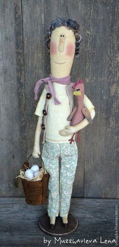 """Коллекционные куклы ручной работы. Ярмарка Мастеров - ручная работа """"Фрау Марта и Цыпа"""" Интерьерная кукла. Handmade."""