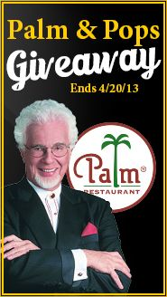 We're giving away dinner at The Palm Restaurant and the opportunity to see Peter Nero and the Philly Pops! Click to enter, contest ends 4/20/13.