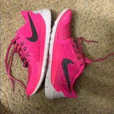 outlet store 42bf5 12b96 Nike Shoes   Nike Free Run 5.0 Girls Kids Sneakers   Color  Black Pink