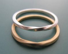 Seine und ihre Ringe, Ehering Set, paar Ring, Mobius Ring, Ring Paare, Hochzeit Bänder sein und ihn, Mobius Eheringe, Mobius [P]
