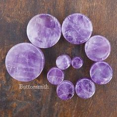 Amethyst Organic Stone Plugs / Gauges - 2g 0g 00g 7/16 1/2 9/16 5/8 3/4 7/8 1 Sizes