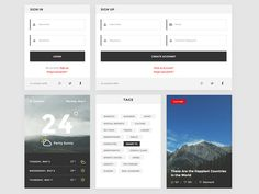 The Trend kit contains a small collection of ui elements. #ui #trend #uikit
