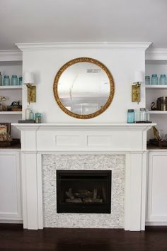 Fireplace Mantle And Built-Ins Reveal by Dream Book Design
