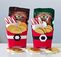 idea using french fry box template Santa Fry Treat Boxes Christmas Favors, Christmas Paper Crafts, Stampin Up Christmas, Christmas Goodies, Christmas Projects, All Things Christmas, Holiday Crafts, Holiday Fun, Christmas Holidays