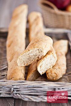 #Bagietki - domowe #pieczywo  http://pozytywnakuchnia.pl/bagietki/  #przepis #kuchnia