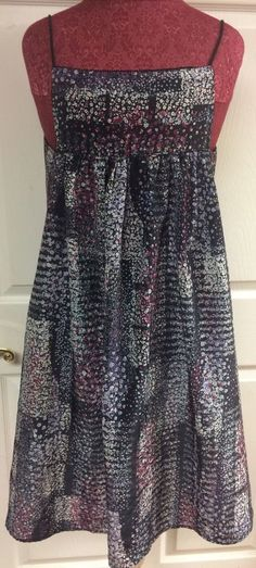 Little White Lies Purple Blue Floral Boho Peasant Sleeveless Dress Size Small #LittleWhiteLies #Sundress