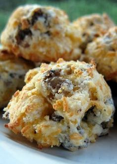 Sausage and Cheese Puffs - a twist on sausage balls - can bake and freeze for a quick breakfast on-the-go. Also great for parties!