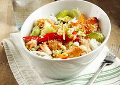 Make this delicious salmon rice bowl