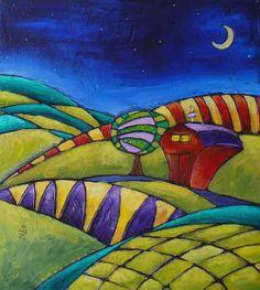 Midnight Farm    Print By Inna Novikova