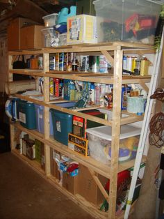 How to Build Sturdy Basement Shelves