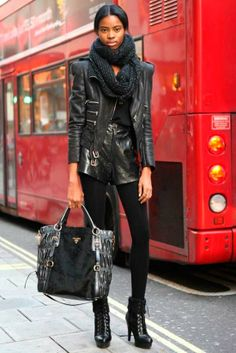 Creative Ideas for Wearing a Leather Jacket  #fashiontips #leatherjacket