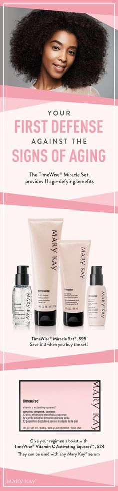 Take customization to a new level. Give your age-fighting regimen a boost with TimeWise®Vitamin C Activating Squares™. | Mary Kay