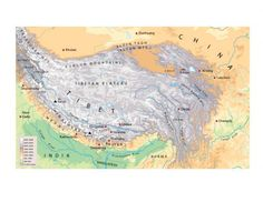 Map of the Himalayas