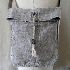 Vintage Linen Shoulder Bag: Kathy Van Kleeck