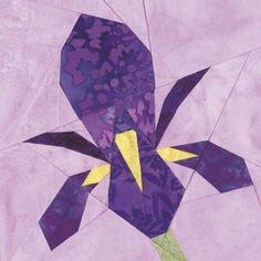 carnation quilt block | May Iris Quilt Block Pattern