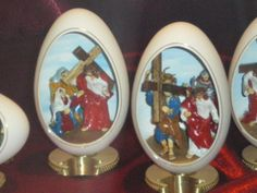 Eggs with dioramas.