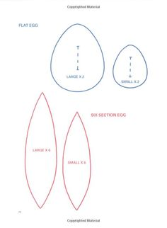 Tilda eggs pattern